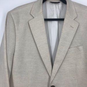 Banana republic linen blazer jacket cream 44R XL